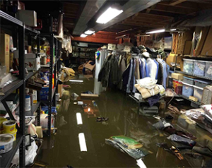 Flooded-Basement - flood and water damage restoration in Boston, MA by ServiceMaster Disaster Associates, Inc.
